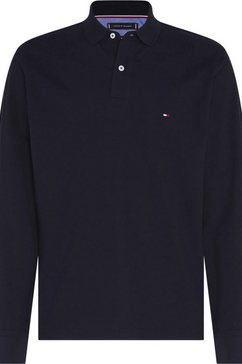 tommy hilfiger poloshirt met lange mouwen »tommy regular polo ls« blauw