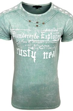 rusty neal t-shirt groen