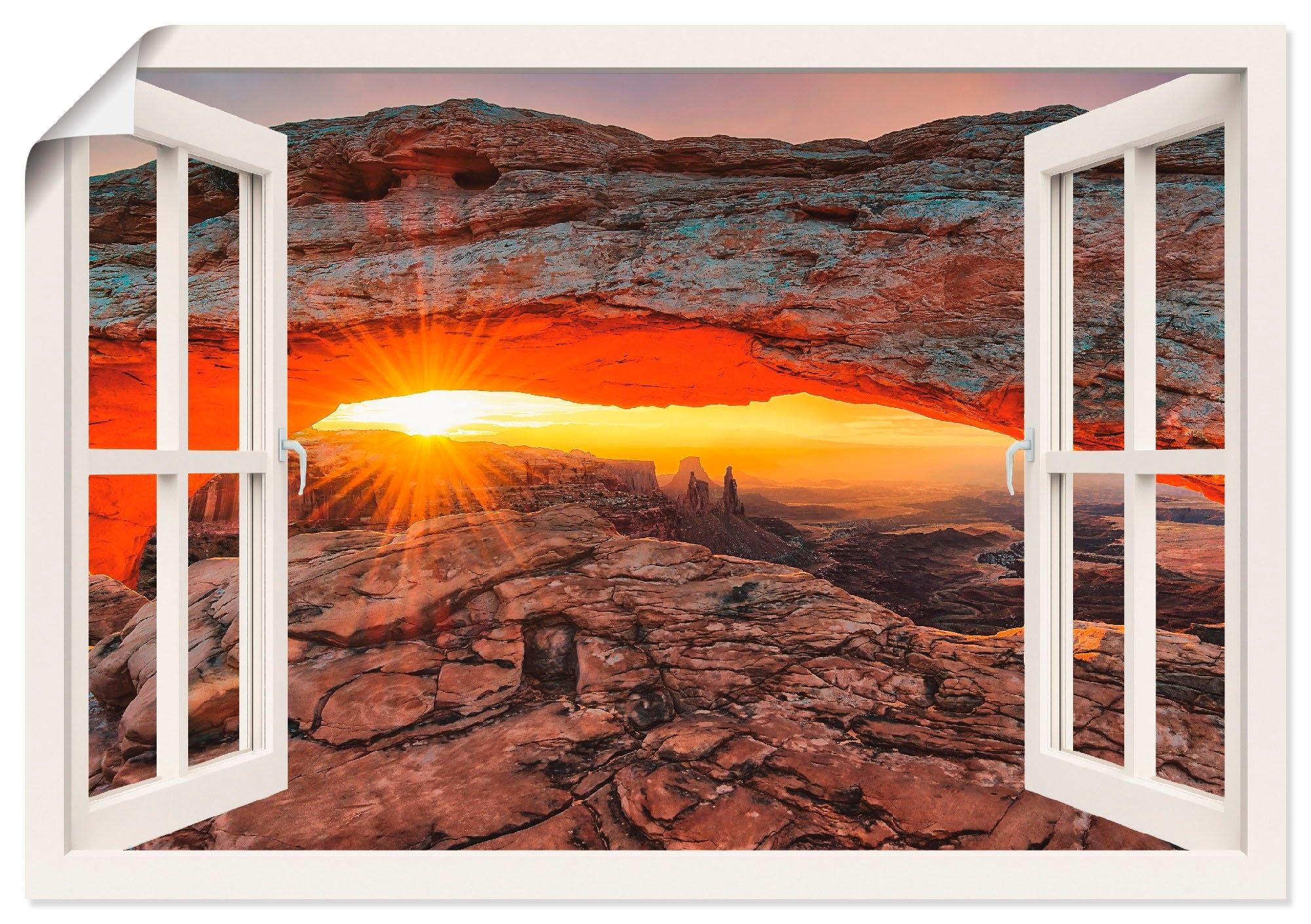 Artland artprint »Fensterblick Iconic Mesa Arch« goedkoop op otto.nl kopen