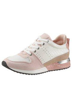 la strada sneakers fashion sneaker met contrastbeleg wit
