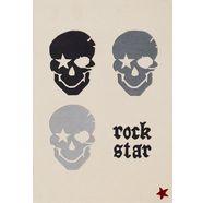 rock star baby vloerkleed voor de kinderkamer rn2383-2 met de hand gesneden relifpatroon, 80% wolaandeel, kinder- en tienerkamer wit