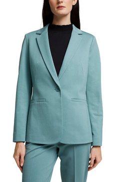 esprit collection jerseyblazer in klassieke vorm groen