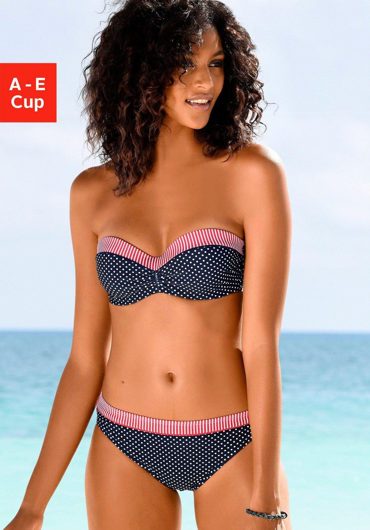 s.Oliver RED LABEL Beachwear Bandeau-bikinitop Avni met aangerimpeld midden goedkoop op otto.nl kopen