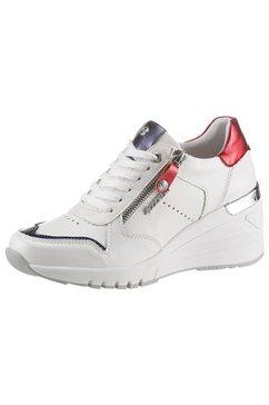 dockers by gerli sneakers met sleehak wit