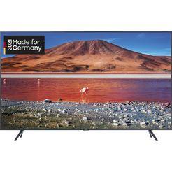 "samsung led-tv gu75tu7199u, 189 cm - 75 "", 4k ultra hd, smart-tv, kristallen uhd zilver"