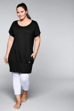 sheego shirtjurk met steekzakken opzij zwart