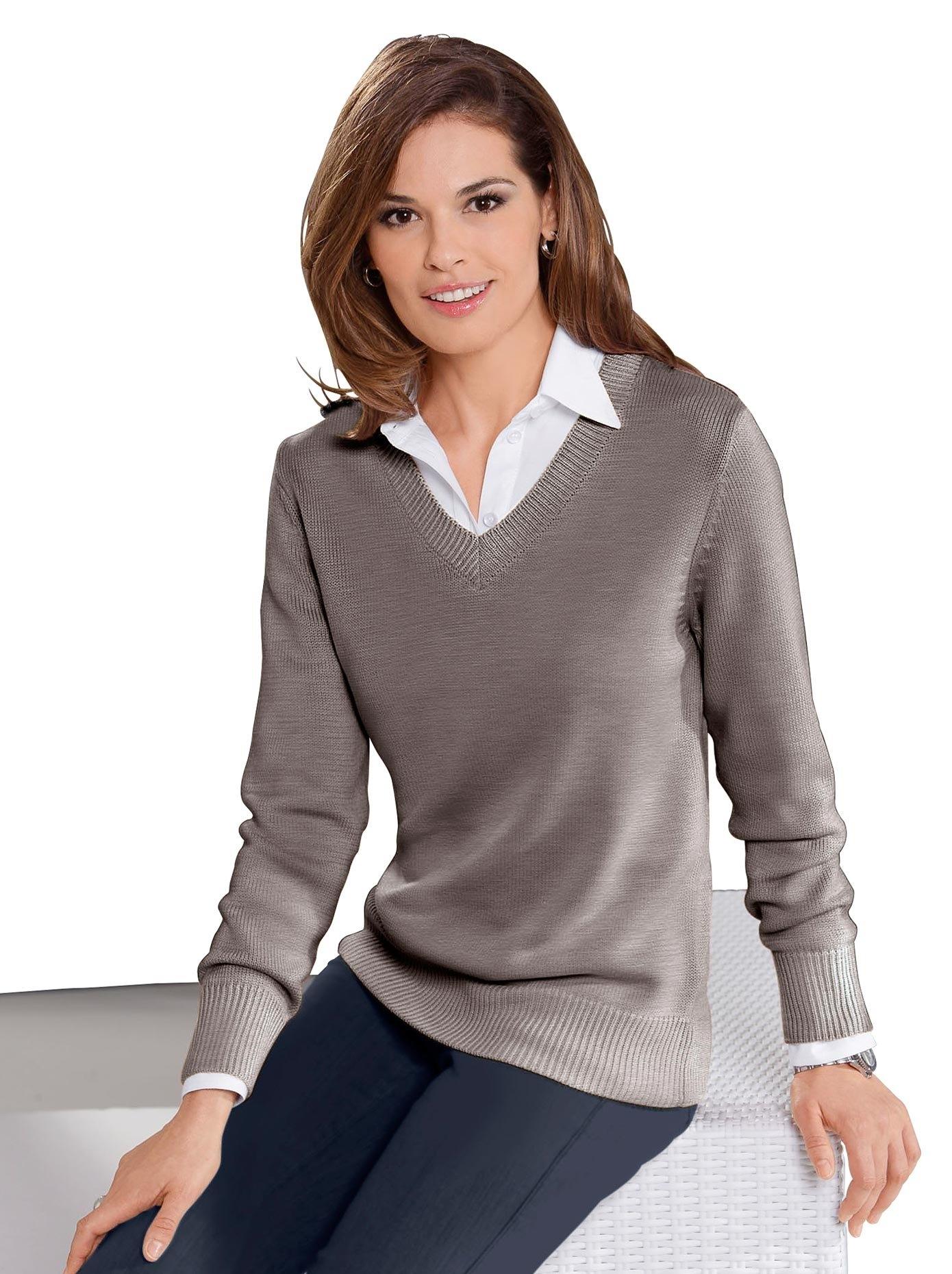 Casual Looks trui met V-hals Trui bij OTTO online kopen