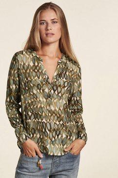 nile gedessineerde blouse groen