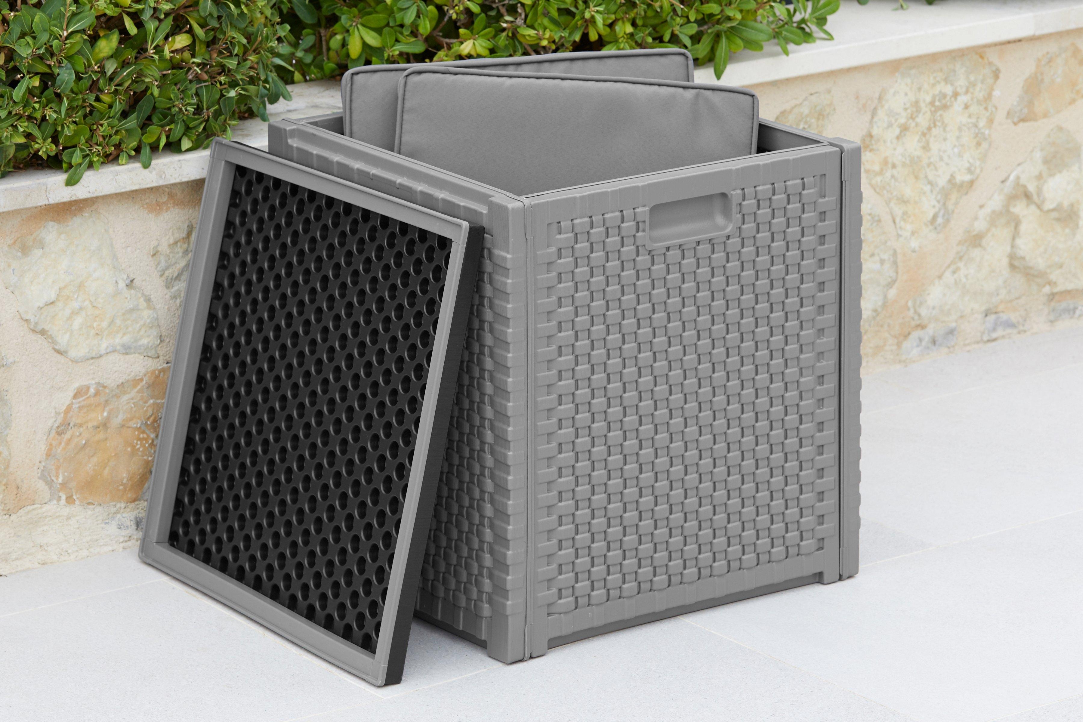 KMP GARTEN GUT kussenbox afm. (bxdxh): ca. 47x47x52 cm, volume ca. 160 liter - gratis ruilen op otto.nl