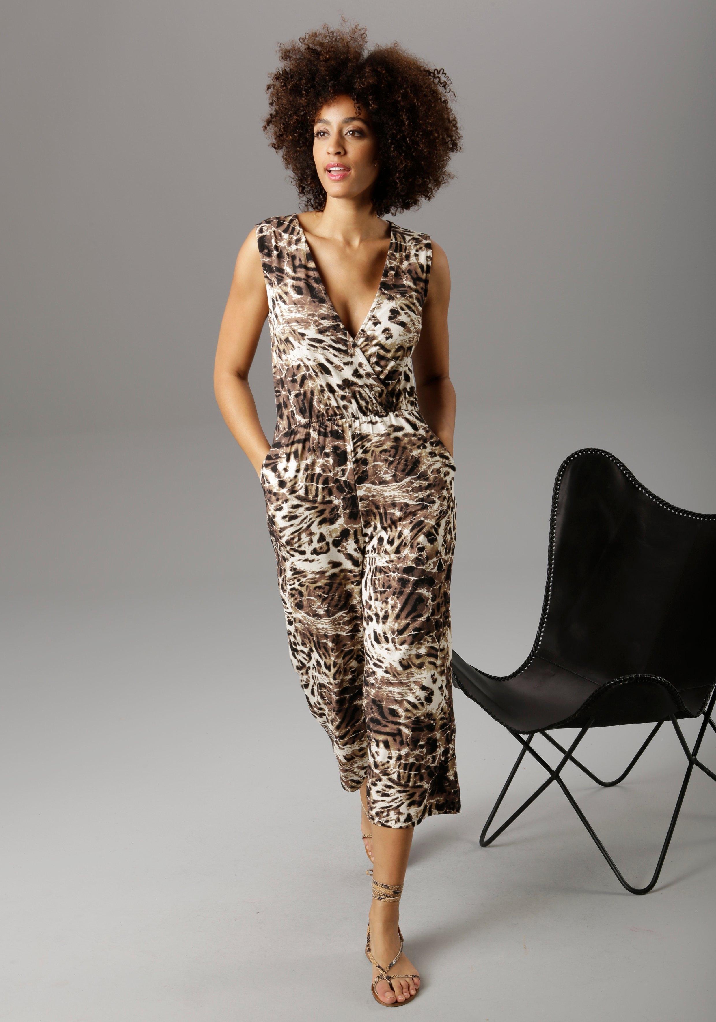 Aniston SELECTED jumpsuit in culotte-stijl met animal-print bij OTTO online kopen
