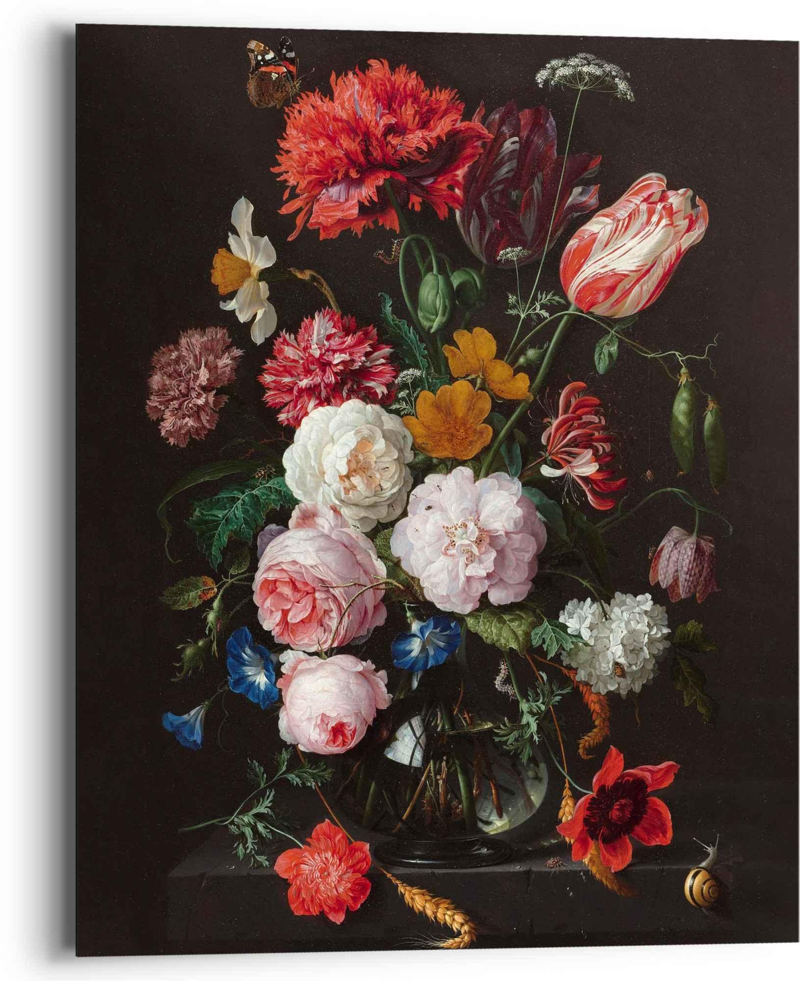 Reinders! artprint stilleven met bloemenvaas Jan Davidsz de Heem - oude meester - beroemde schilderij, bloemen (1 stuk) veilig op otto.nl kopen