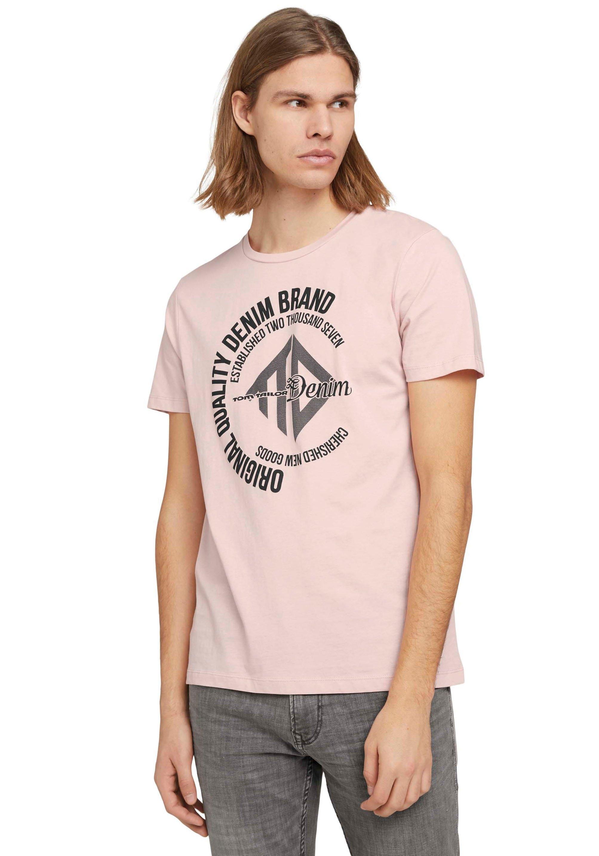 Tom Tailor Denim T-shirt met logo-frontprint - gratis ruilen op otto.nl