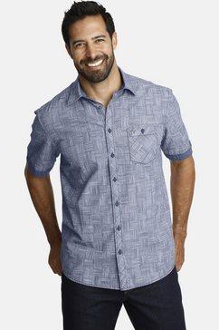 jan vanderstorm overhemd met korte mouwen cassian gestructureerd geruit overhemd multicolor
