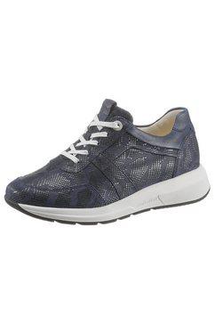 ganter sneakers met sleehak giselle met reptielprint blauw