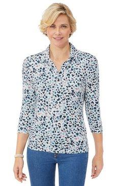 classic poloshirt met een open overhemdkraag blauw