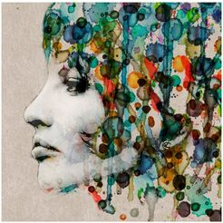 art  pleasure metalen artprint »aquarell face« multicolor