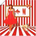 artland artprint serie in vele afmetingen  productsoorten -artprint op linnen, poster, muursticker - wandfolie ook geschikt voor de badkamer (1 stuk) rood