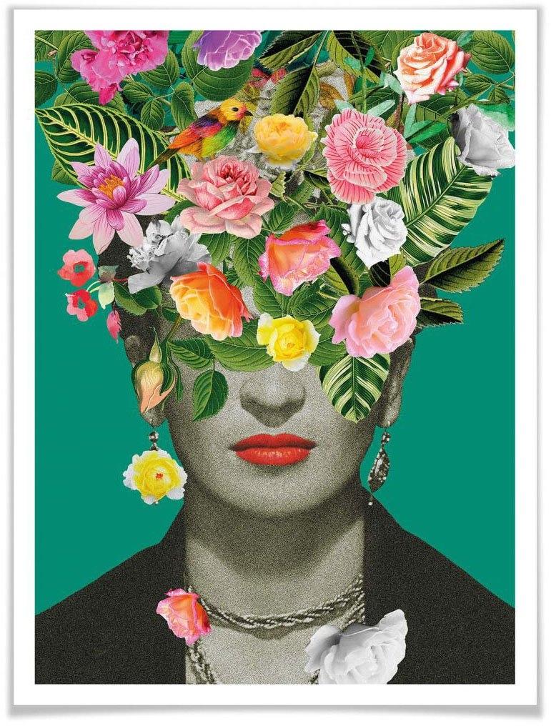 Wall-Art poster Frida Kahlo in bloemmotief (1 stuk) goedkoop op otto.nl kopen