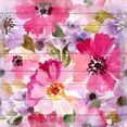 queence artprint op hout »samantha« roze