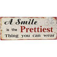 ambiente haus metalen bordje smile artprint 50 cm (1 stuk) multicolor