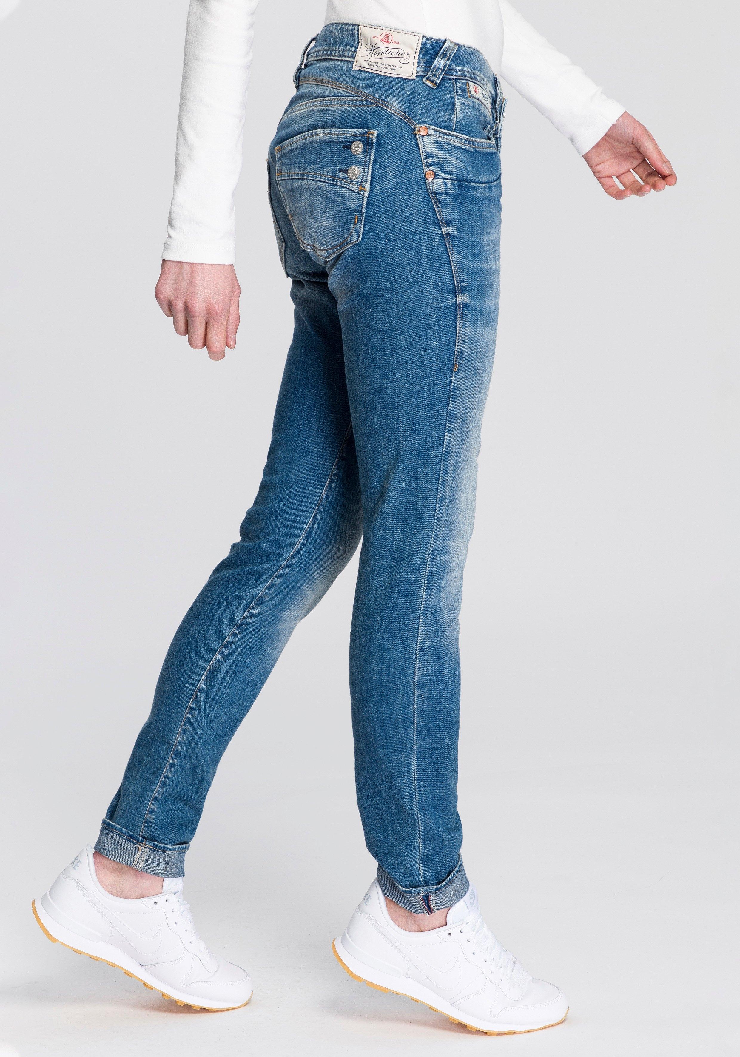 Herrlicher slim fit jeans PIPER SLIM met afkledende pijpbelijning voordelig en veilig online kopen