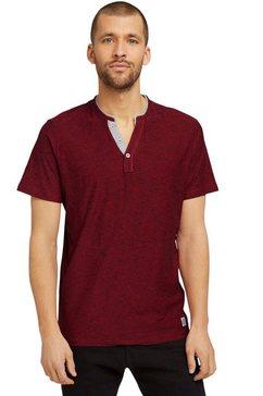tom tailor henleyshirt met layer-look bij de kraag rood