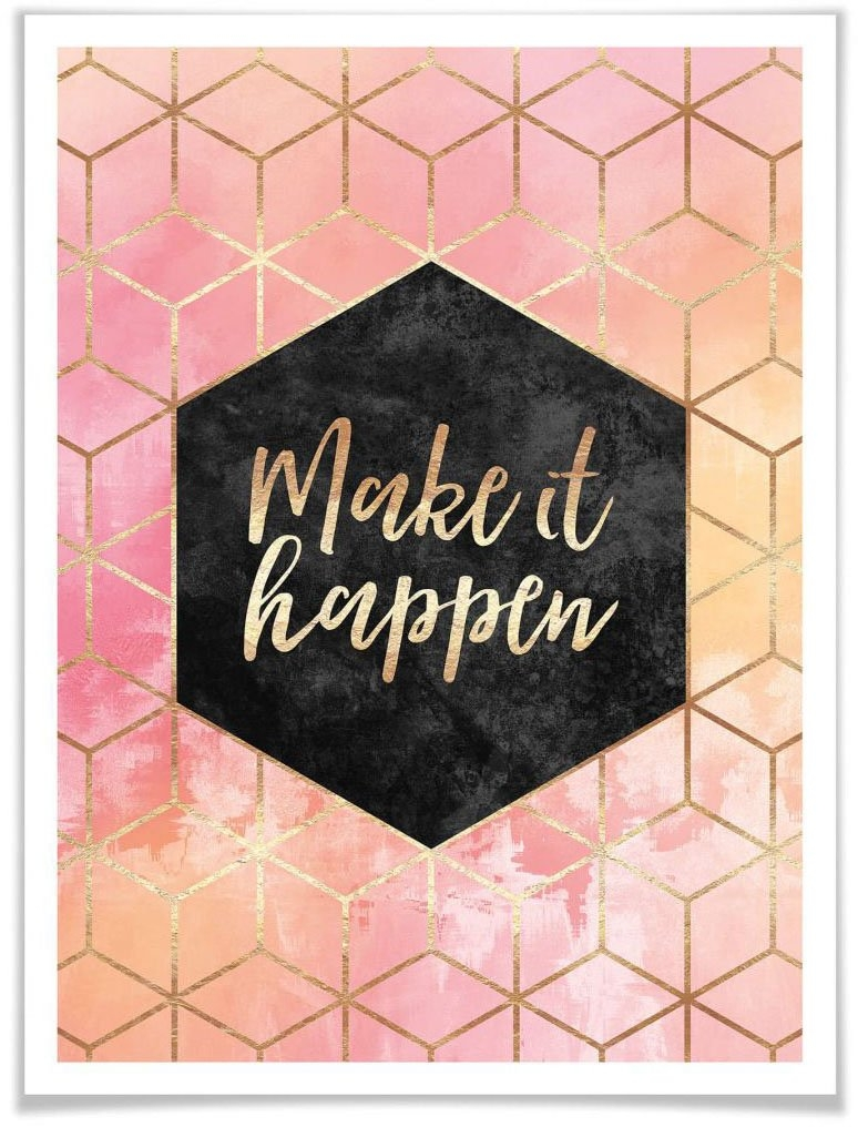 Wall-Art poster Make it Happen Gold (1 stuk) in de webshop van OTTO kopen