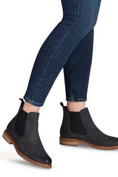 tamaris chelsea-boots belin in klassieke vorm zwart