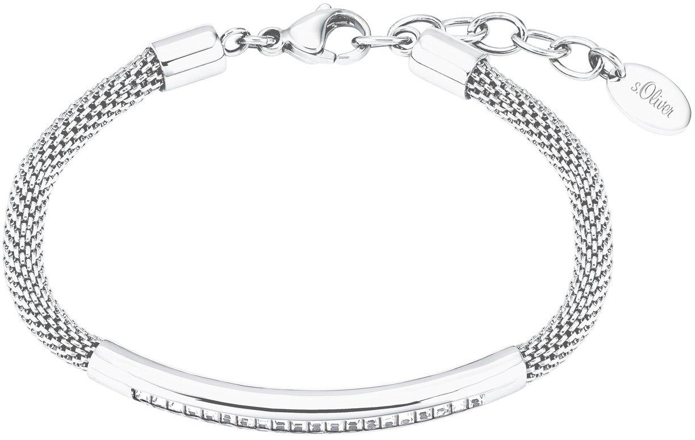 s.Oliver Edelstalen armband 2027583 met kristallen - gratis ruilen op otto.nl