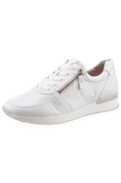gabor sneakers met sleehak met doelmatige rits aan de buitenkant wit