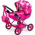 bayer poppenwagen cosy, pink-sterne roze