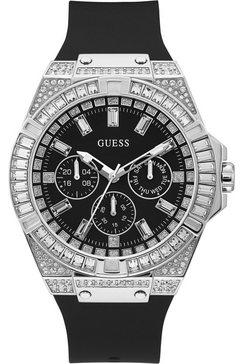 guess multifunctioneel horloge »zeus, gw0208g1« zwart