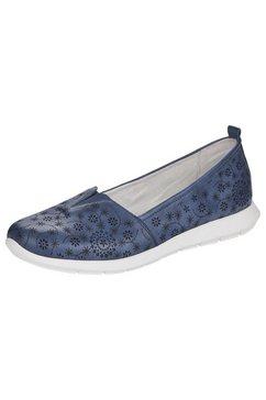 remonte instappers met uitneembaar voetbed blauw