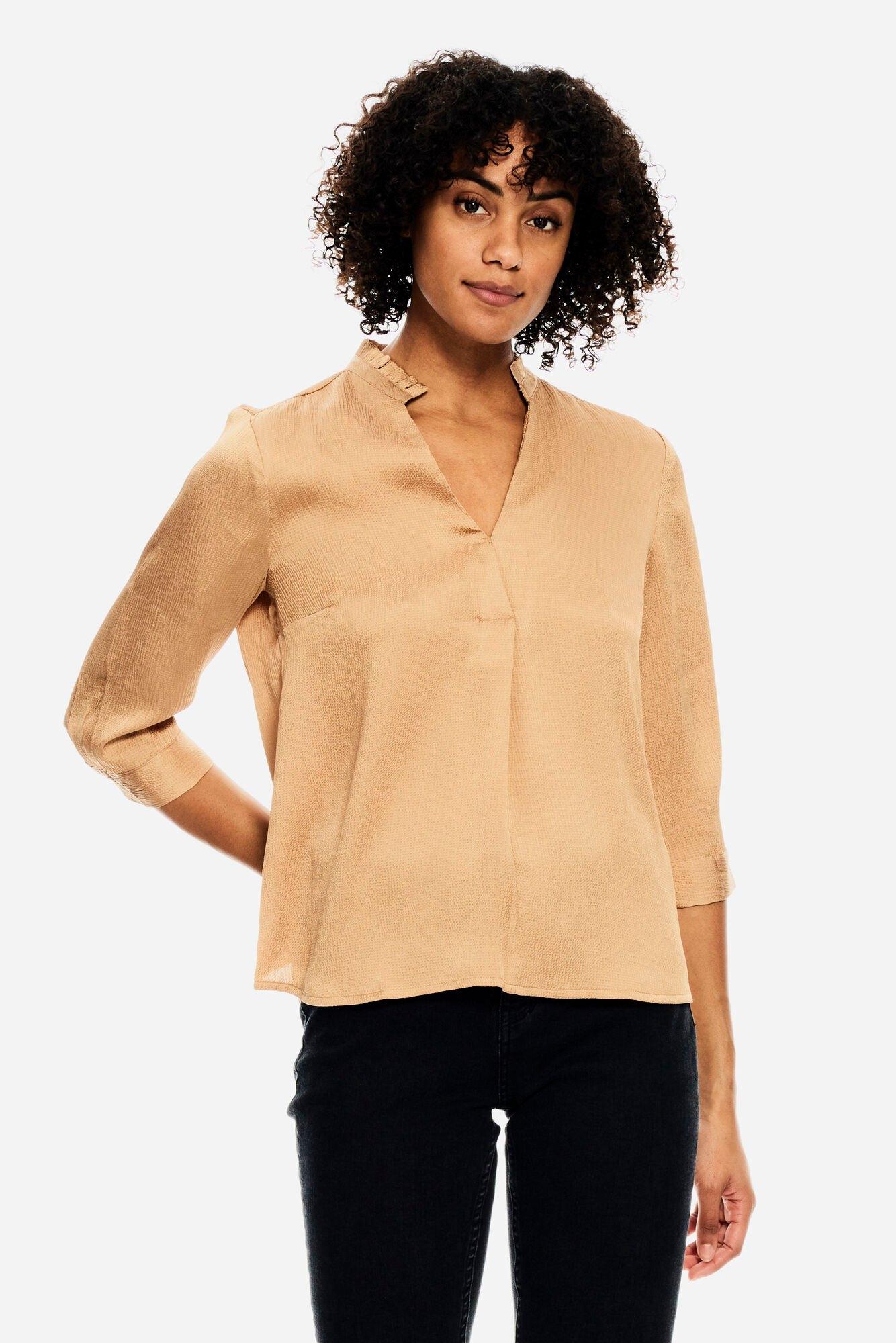 Garcia klassieke blouse met rucherand voordelig en veilig online kopen