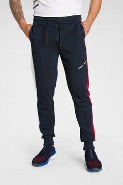 tommy sport sweatbroek blocked terry pant blauw