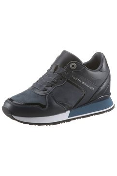tommy hilfiger sneakers »dressy wedge mat mix sneaker« blauw