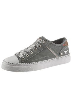 mustang shoes sneakers met 3 cm dikke plateauzool groen