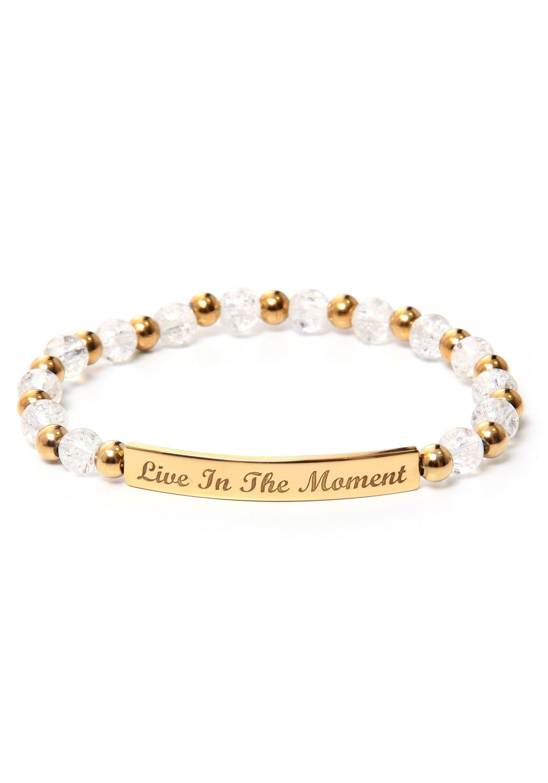 J.Jayz armband Live In The moment, glinsterend met kralen van glas en metaal nu online bestellen
