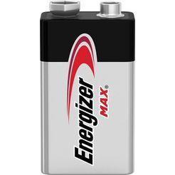 energizer batterij max e-block 9v set van 3 (set, 3 stuks) zilver