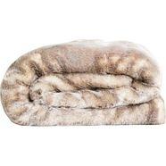 star home textil deken imitatiebont deken zilvervos bijzonder zacht, van hoge kwaliteit zilver