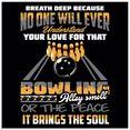 artland print op glas quote voor bowlingfans hobby (1 stuk) oranje