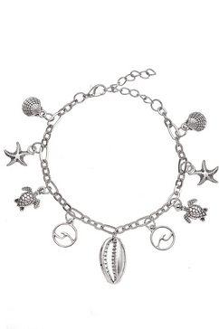 lascana enkelkettinkje met hanger met verschillende zee-hangers zilver