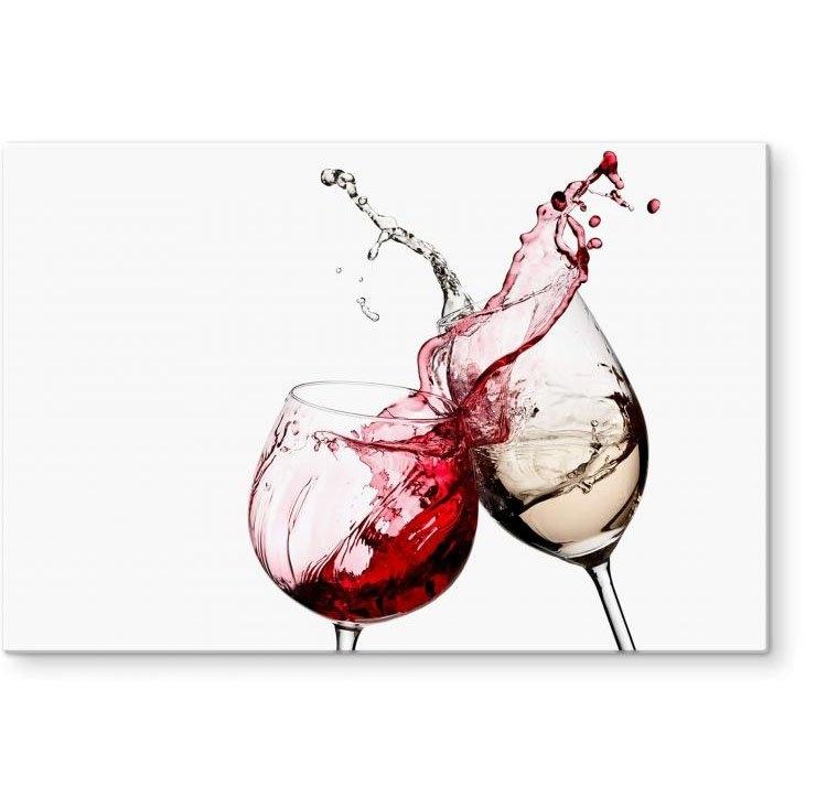 Wall-Art kookplaatdeksel Spatscherm keuken wijnglazen (1-delig) in de webshop van OTTO kopen