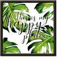 artland artprint dit is mijn ruimte om gelukkig te zijn (1 stuk) groen