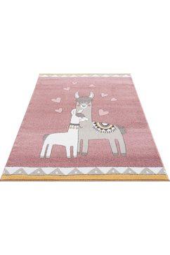 luettenhuett vloerkleed voor de kinderkamer »lamas« roze