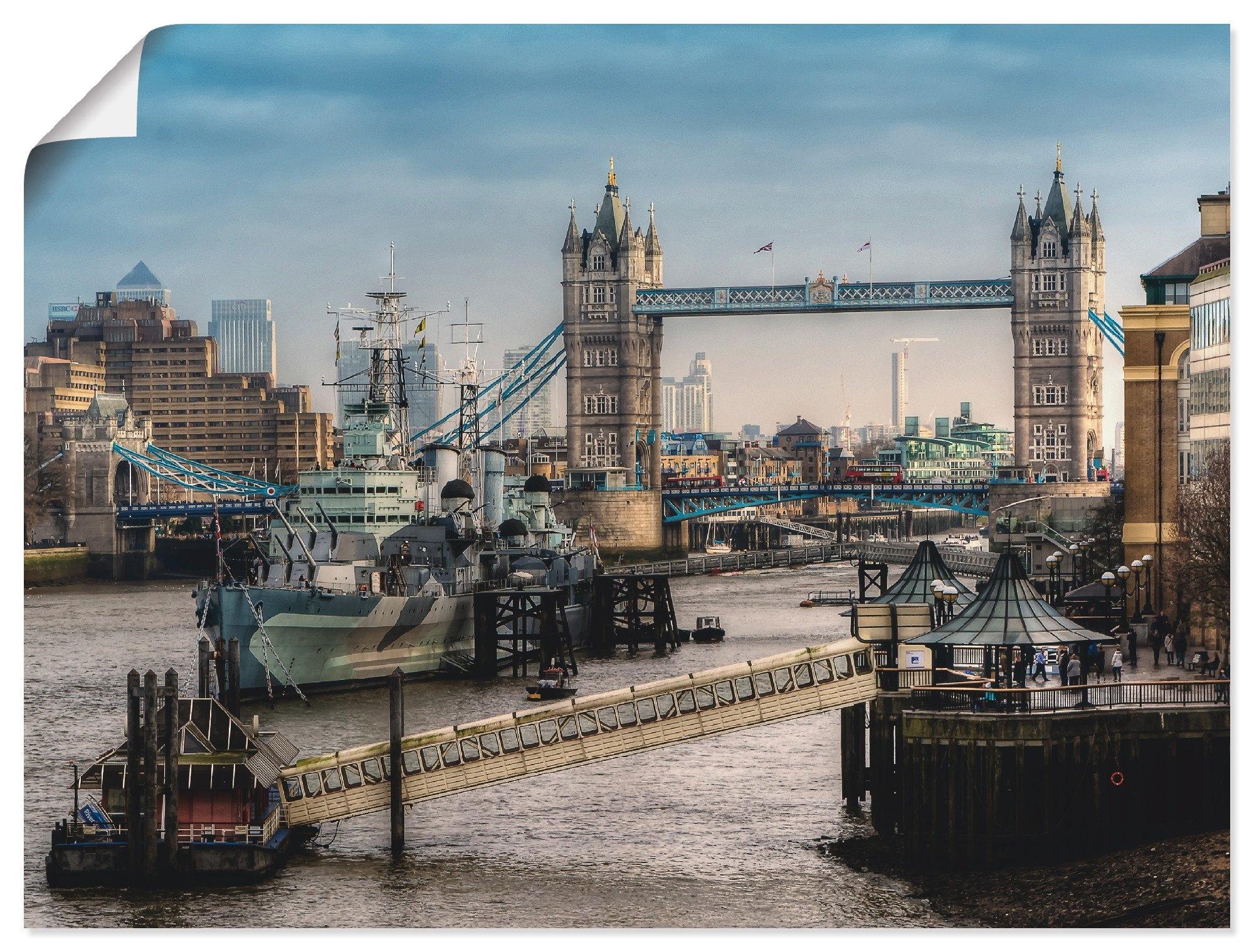 Artland artprint Londen - Tower Bridge in vele afmetingen & productsoorten -artprint op linnen, poster, muursticker / wandfolie ook geschikt voor de badkamer (1 stuk) nu online bestellen
