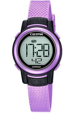 calypso watches chronograaf digital crush, k5736-4 paars