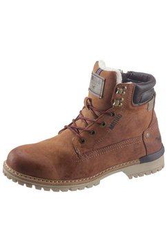 mustang shoes winterlaarzen met warm gevoerd binnenwerk bruin